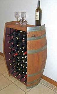 32 bottle wine barrel rack- Dallas TX    www.grasshopperslandscapingllc.com