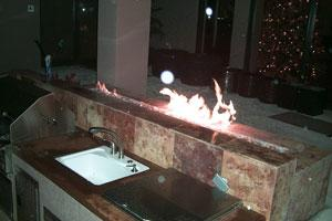 fireglass outdoor bar Dallas TX    www.grasshopperslandscapingllc.com