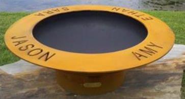 Rings of Saturn Fire pit - Dallas TX  www.grasshopperslandscapingllc.com
